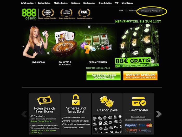 888 casino lobby